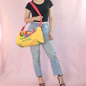VTG 1990s Crayola Crayons Duffle Bag